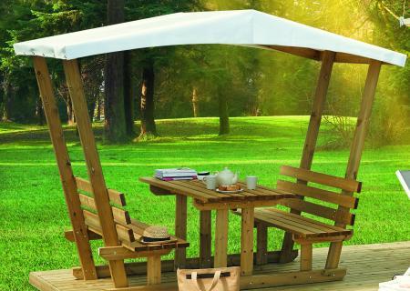 Table en bois Snack / Pic-nic pour terrasse et mobil-home