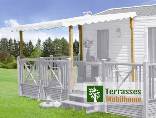 Couverture pour terrasse mobil home, de 2.40 à 2.70m de profondeur