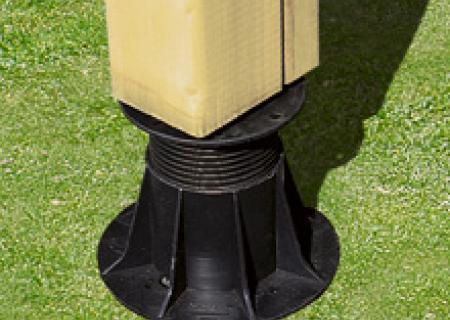 calplot et kit réhausse, pour calage de terrasse de  mobil home