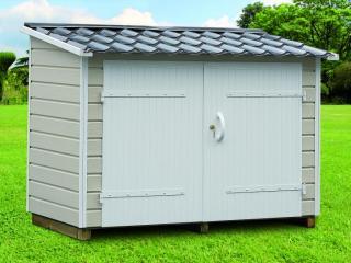 Abri range-tout pour mobil-home en PVC / 2m², CLAIRVAL