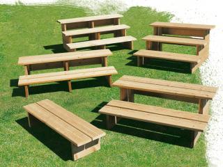 Escalier mobil home en bois, 3 marches antidérapantes - L.128 cm