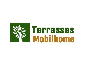 terrasse au sol pour mobil home, basse et facile d'accès