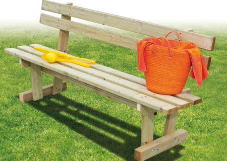 Banc en bois pour jardin - terrasse de mobil-home, CLAIRVAL