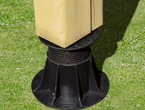 Calplot réglable pour calage de terrasse mobil-home, de 70 à 110mm