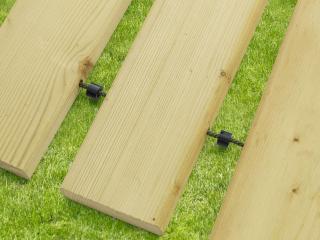 Chemin déroulable en bois EASYFIT,  Long. 3.00m, Larg.0.75m