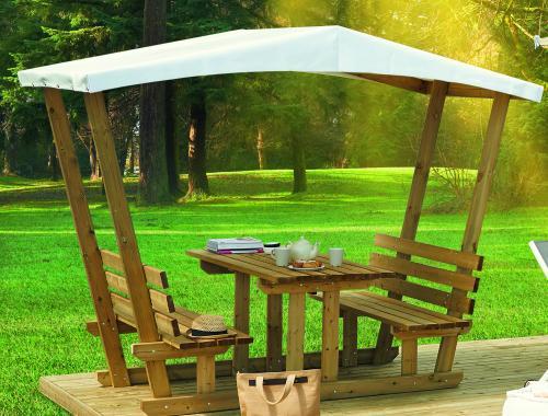 Table Snack en bois avec couverture PVC, Plateau table 150 x 70 cm