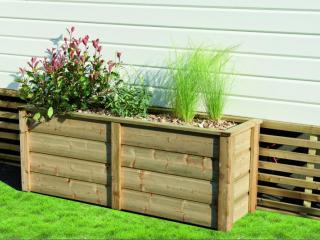 Jardinière pour terrasse de mobil home  L.106 x H.56 X P.44cm