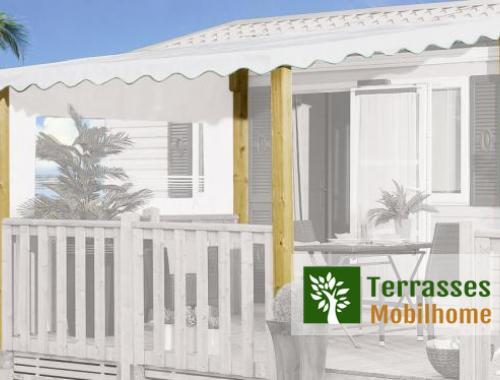 Kit d'adaptation couverture pour terrasse, poteaux 95 x 68mm