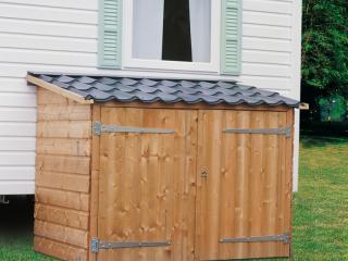 Abri range-tout en bois pour mobil-home / 2m², CLAIRVAL