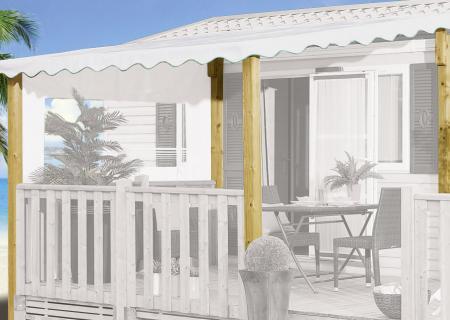 Kit d'adaptation couverture pour terrasse mobil home (petits poteaux à remplacer par des grands)
