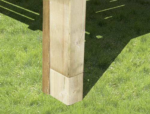 Kit en bois pour réhausser plancher de terrasse jusqu'à 70cm