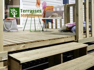 contremarche escalier terrasse mobil home tribu xxl