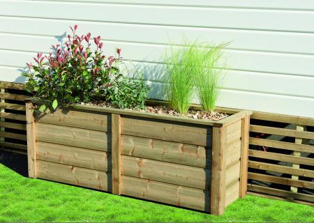 Jardinière pour jardin et terrasse de mobil-home, CLAIRVAL