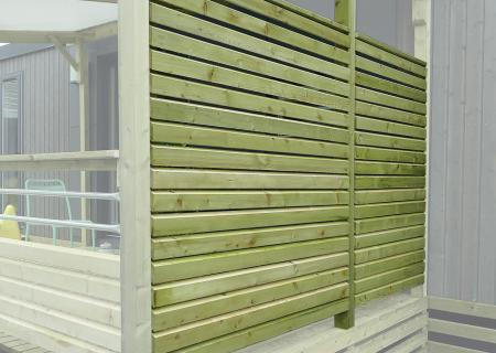 Pare-vue persienne pour terrasse de mobil-home, CLAIRVAL