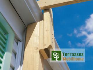 système cheneau couverture terrasse mobil home