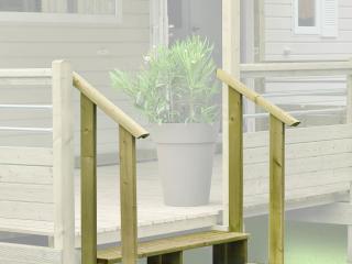 Mains courante pour escalier de mobil home, 3 marches