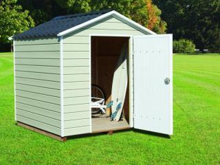 Abri pour mobil-home en PVC avec toit 2 pentes 4m², CLAIRVAL