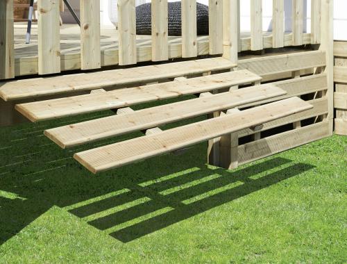 Soubassement terrasse mobil-home, en bois, standard et relevable