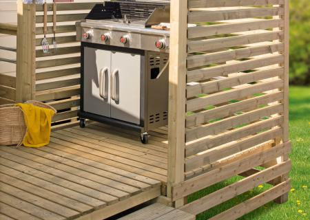 SAS barbecue pour terrasse mobil home