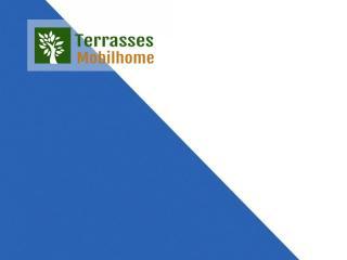 coloris bleu blanc terrasse mobil home clairval