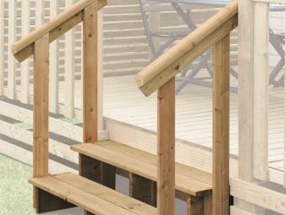 Mains courantes pour escalier de mobil home, 2 marches