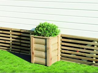 Jardinière pour terrasse de mobil home L.44 x H.56 X P.44cm