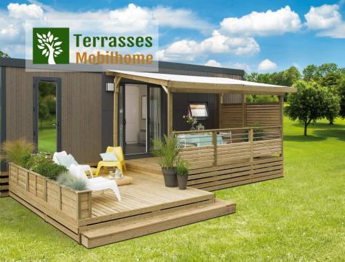 La terrasse mobil-home couverte la plus aboutie et de haute qualité