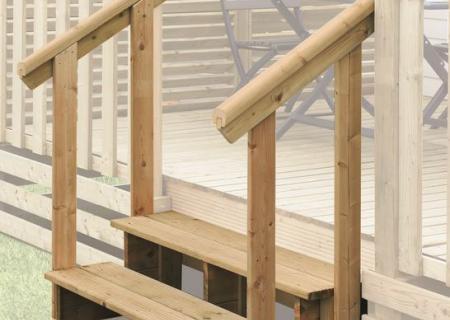 Mains courantes pour escalier de terrasse mobil home, CLAIRVAL