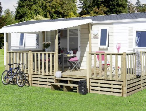 Terrasse pour mobil-home livrée dans le Vaucluse (84)