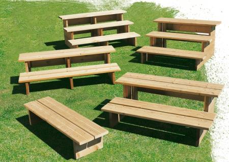 Escalier pour terrasse mobil home (marche pied), CLAIRVAL