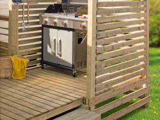 SAS barbecue pour terrasse mobil home, adaptable à toute marque