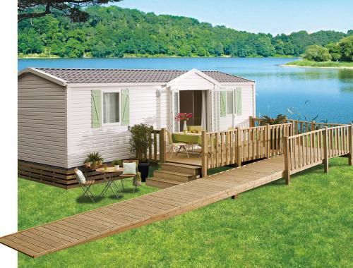 Terrasse en bois mobil-home livrée dans les Alpes-Maritimes (06)