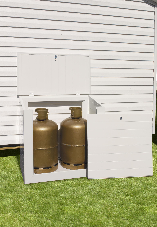 coffre range bouteilles de gaz en pvc 2 bouteilles made in france. Black Bedroom Furniture Sets. Home Design Ideas