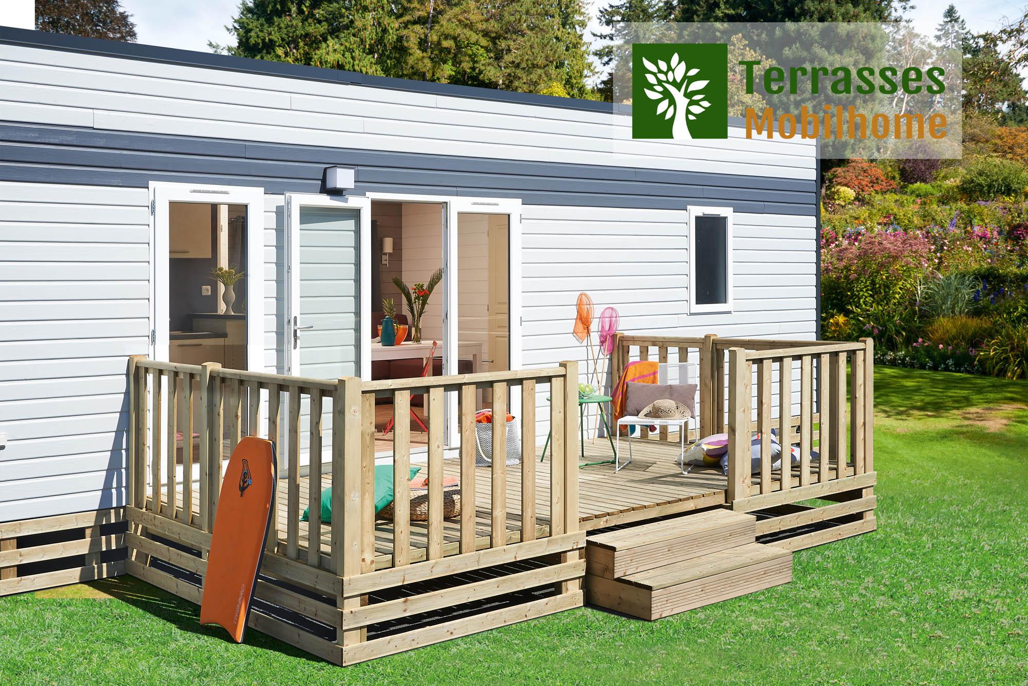 Terrasse Fermée En Bois terrasse mobil home simple, meilleur rapport qualité / prix