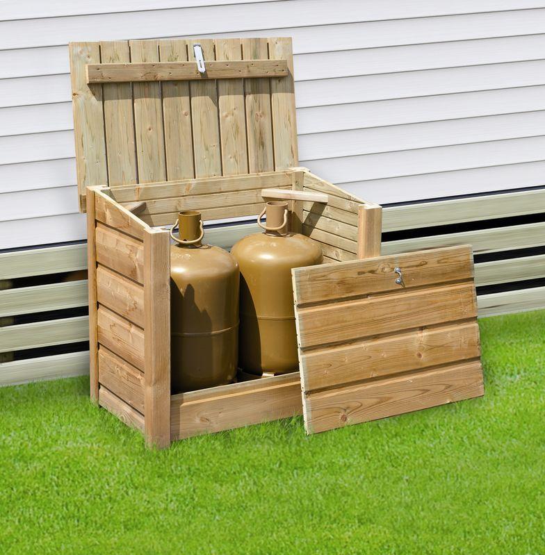 coffres range bouteilles de gaz pour mobil home clairval vente accessoire terrasse. Black Bedroom Furniture Sets. Home Design Ideas