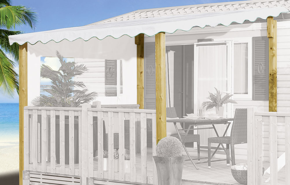 Couverture terrasse mobil-home, CLAIRVAL terrasse ~~ Kit ...