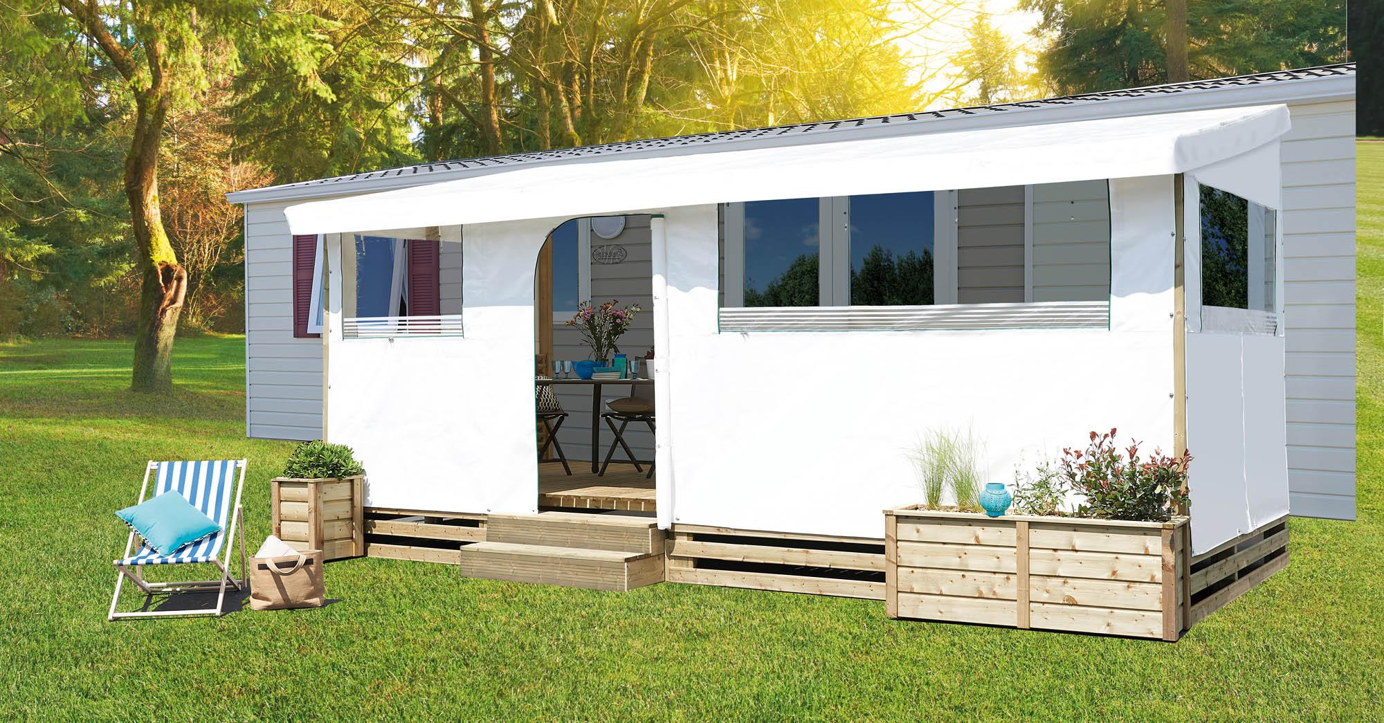 b che sur mesure pour terrasse de mobil home toit joue. Black Bedroom Furniture Sets. Home Design Ideas