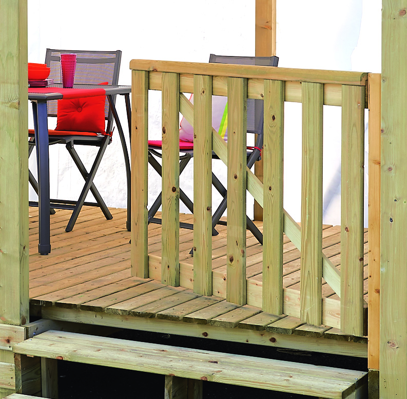 portillon terrasse mobil home un battant portillon pour