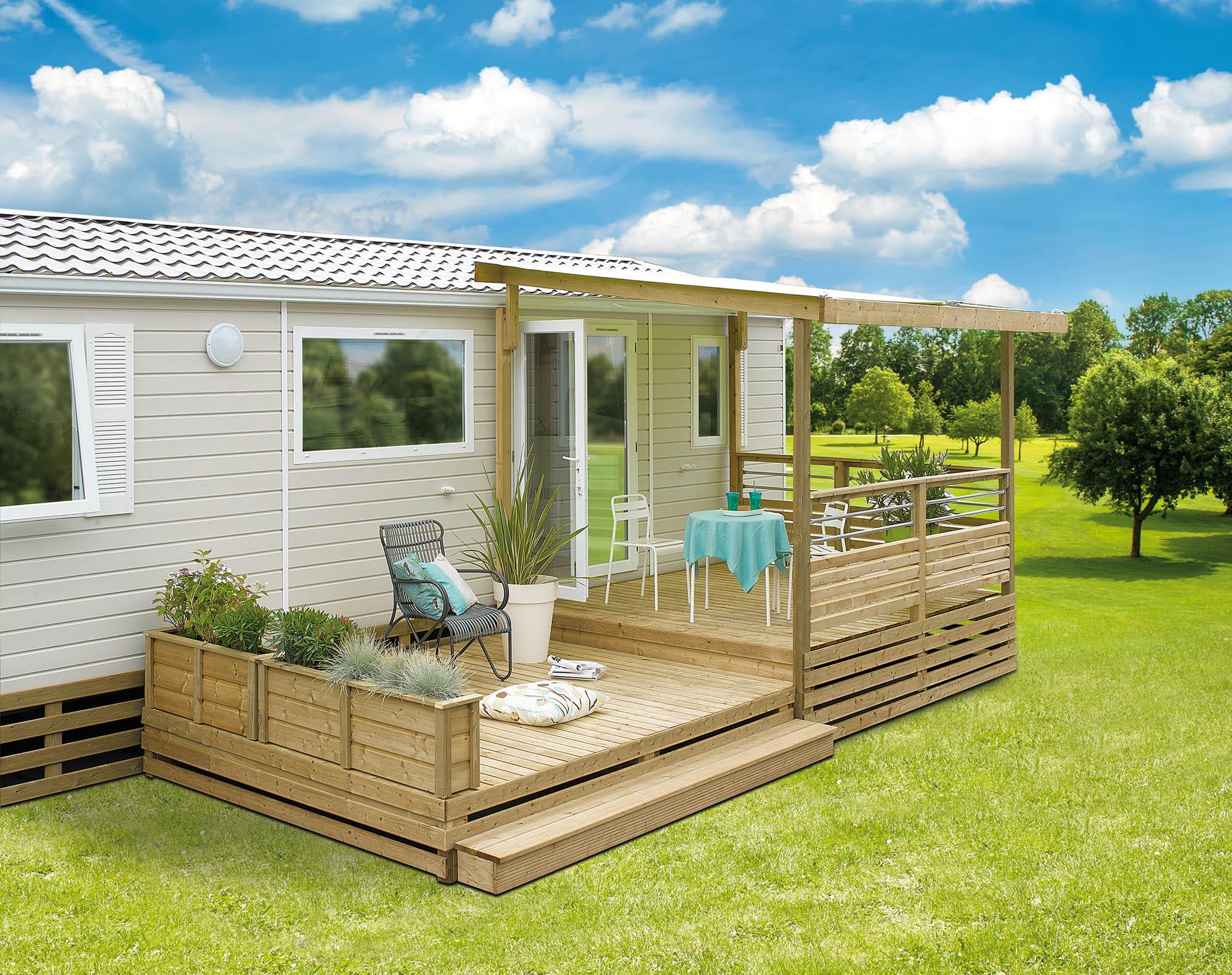 La terrasse mobil home en bois et de fabrication Française - Conseils pratiques Terrasses Mobilhome