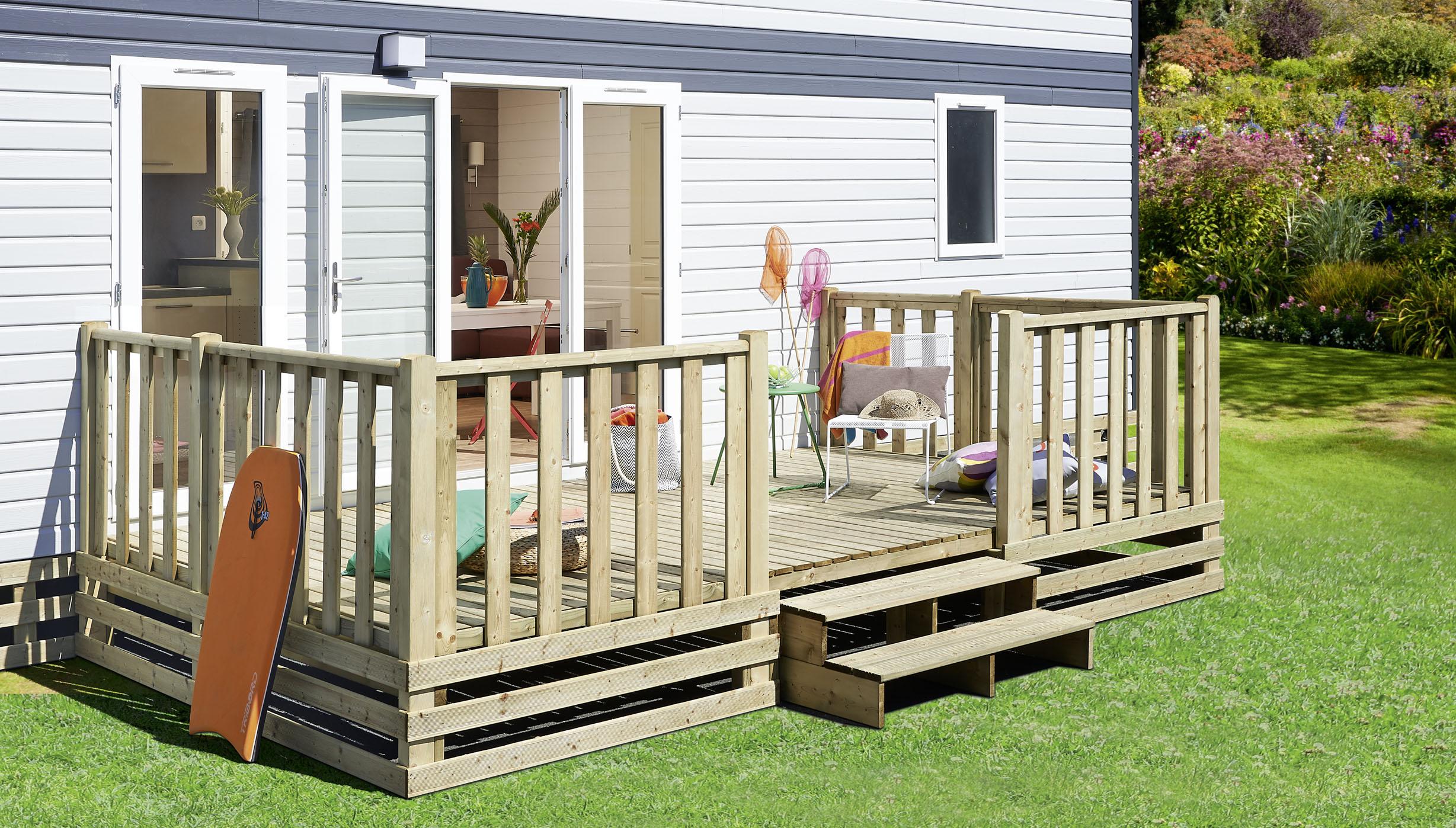 Terrasse En Bois Pour Mobil Home - Terrasse en bois pour mobil home, CLAIRVAL Conseils pratiques Terrasses Mobilhome